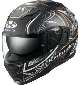 OGK KABUTO オージーケーカブト KAMUI 3 JAG [カムイ・3 ジャグ フラットブラック ゴールド] ヘルメット