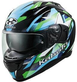OGK KABUTO オージーケーカブト KAMUI 3 STARS [カムイ・3 スターズ ブラックグリーン] ヘルメット