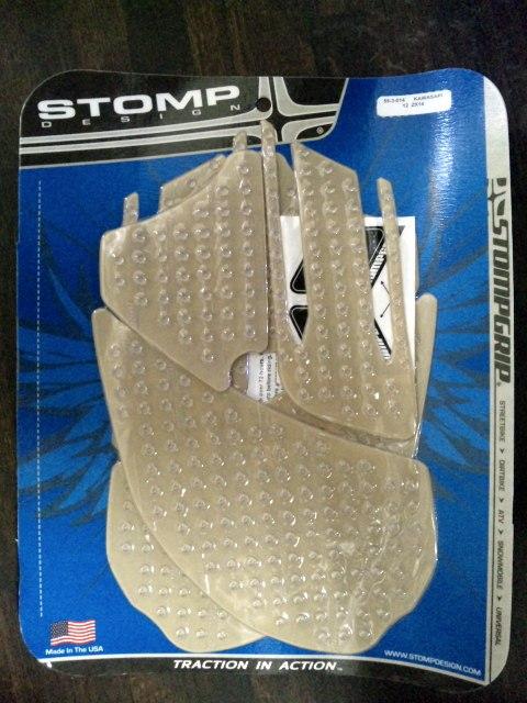 【在庫あり】ストンプグリップ STOMPGRIP タンクパッド トラクションパッド ストリートバイクキット カラー:クリア ZX14/ZZR1400 12-15