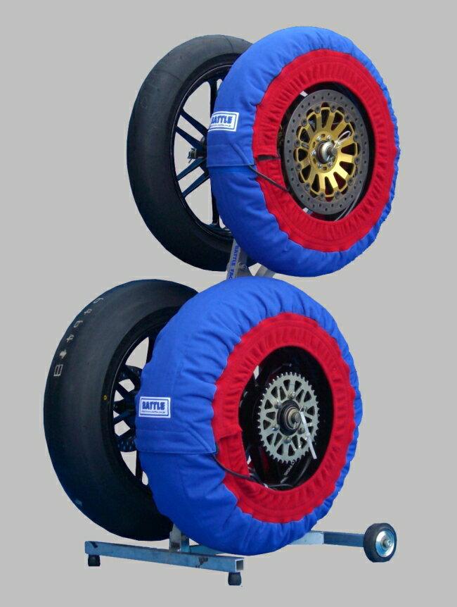 バトルファクトリー BATTLE FACTORY タイヤウォーマー 表面:青/サイド:赤