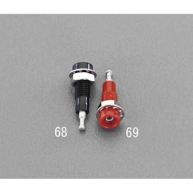 ESCO エスコ その他、配線用ツール [直径6.1x5.1mm穴/5A]チップジャック[黒]