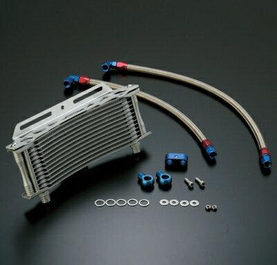 【イベント開催中!】 ACTIVE アクティブ オイルクーラー本体 ラウンドオイルクーラーキット コアカラー:ブラック サイズ:#6 9インチ10段 GPZ750R NINJA [ニンジャ] GPZ900R NINJA [ニンジャ]