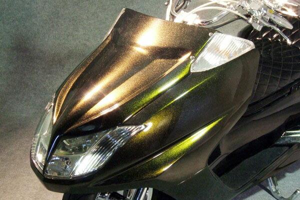 WARRIORZ ウォーリアーズ スクーター外装 マグザム用 エアロフェイス V1(バージョンワン) カラー:ベリーダークオレンジメタリック1(ブラウン) MAXAM [マグザム] (SG17J/SG21J)