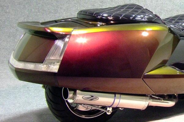 WARRIORZ ウォーリアーズ スクーター外装 マグザム用 リアスポイラー V2(バージョンツー) カラー:ベリーダークオレンジメタリック1(ブラウン) MAXAM [マグザム] (SG17J/SG21J)