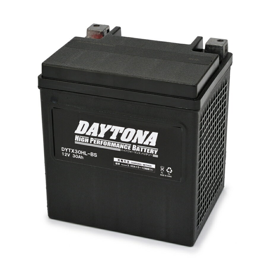 DAYTONA デイトナ ハイパフォーマンスバッテリー 液入り充電済 【DYTX30HL-BS】