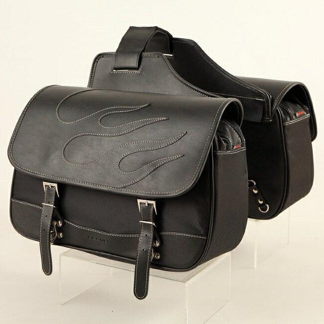 【在庫あり】DEGNER デグナー サドルバッグ・サイドバッグ ナイロンダブルサドルバッグ ファイヤー カラー:ブラック