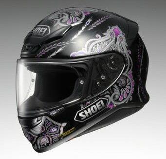 SHOEI ショウエイ フルフェイスヘルメット Z-7 DUCHESS [ゼット-セブン ダッチェス TC-5 BLACK/PURPLE] ヘルメット サイズ:XL(61cm)