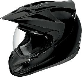 ICON アイコン フルフェイスヘルメット VARIANT SOLID HELMET [バリアント・ソリッド・ヘルメット]【BLACK GLOSS】 サイズ:L(59-60cm)