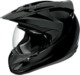 ICON アイコン フルフェイスヘルメット VARIANT SOLID HELMET [バリアント・ソリッド・ヘルメット]【BLACK GLOSS】 サイズ:XL(61-62cm)