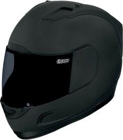 【在庫あり】ICON アイコン フルフェイスヘルメット ALLIANCE DARK HELMET [アライアンス・ダーク・ヘルメット]【BLACK RUBATONE】 サイズ:S(55-56cm)