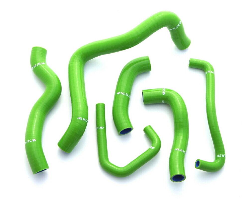 【在庫あり】【イベント開催中!】 NEX Performance ネックスパフォーマンス ラジエーター関連部品 シリコンラジエターホースキット カラー:グリーン ZX-6R