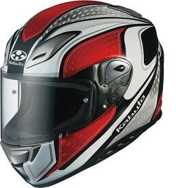 OGK KABUTO オージーケーカブト フルフェイスヘルメット AEROBLADE-III MAVERICK [AEROBLADE-3 エアロブレード・スリー マーヴェリック ホワイトレッド] ヘルメット サイズ:L