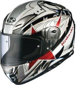 OGK KABUTO オージーケーカブト フルフェイスヘルメット AEROBLADE-III STELLATO [AEROBLADE-3 エアロブレード・スリー ステラート ホワイト/ブラック] ヘルメット サイズ:M