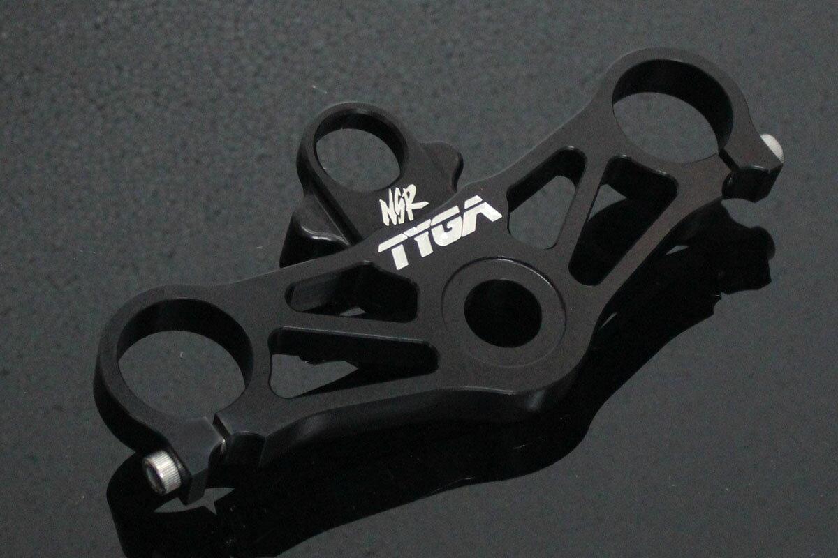 TYGA PERFORMANCE タイガパフォーマンス トップブリッジ イグニッションスイッチホルダー付き CNC NSR250 カラー:ブラック NSR250R