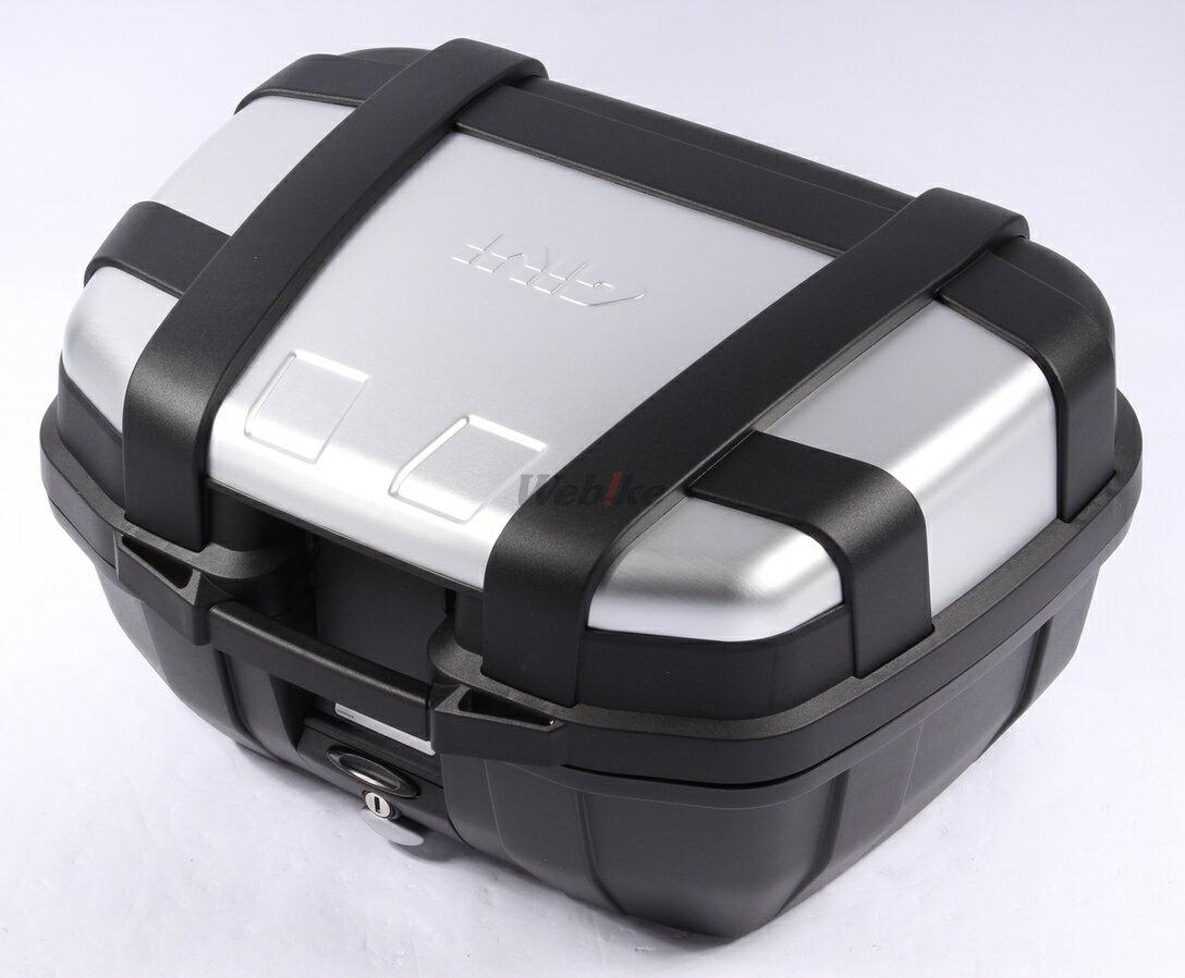 【在庫あり】GIVI ジビ トップケース・テールボックス モノキーケース TREKKER [トレッカー] シリーズ カラー:シルバー [TRK52N]