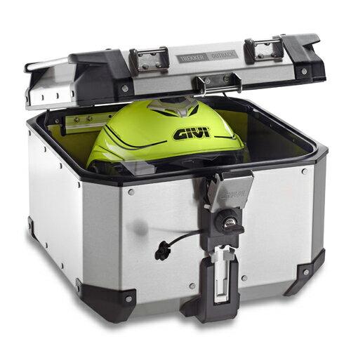 【在庫あり】GIVI ジビ トップケース・テールボックス モノキーケース TREKKER OUTBACK [トレッカーアウトバック] シリーズ カラー:ブラックライン [OBK42BD]
