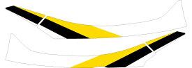 MDF エムディーエフ ステッカー・デカール 専用グラフィック ストロボモデル タイプ:アンダーカバーセット トリシティ 155