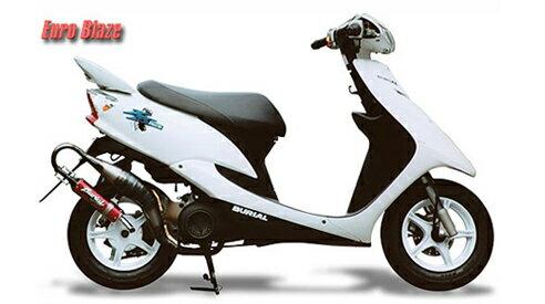 BURIAL ベリアル その他マフラーパーツ リペアーサイレンサー サイレンサーカラー:ブラック 50ccスクーター用ユーロブレイズ