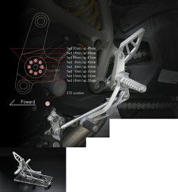 AELLA アエラ バックステップ ライディングステップキット カラー:ポリッシュ ストリートファイター1098/848