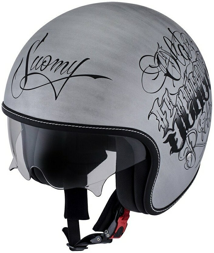 SUOMY スオーミー ジェットヘルメット ROKK OLDSCHOOL SILVER ヘルメット サイズ:XL(61-62)