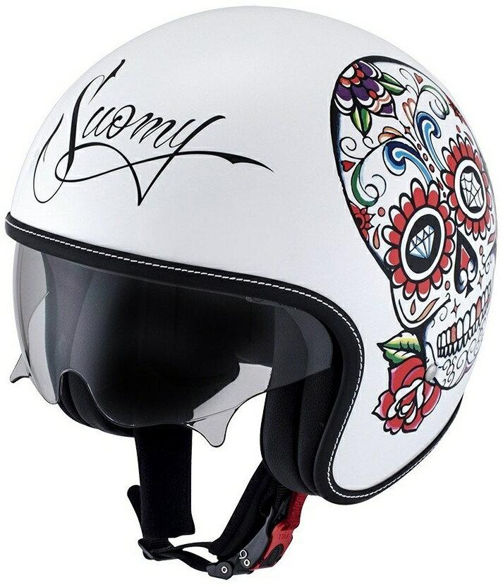 SUOMY スオーミー ジェットヘルメット ROKK CALAVERA WH/CO ヘルメット サイズ:S(55-56)