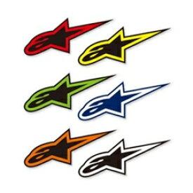 【在庫あり】alpinestars アルパインスターズ ステッカー・デカール A STARステッカー カラー:グリーン/ブラック サイズ:S(W:7.5cm×H:3cm)