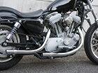 MotorRockモーターロックフルエキゾーストマフラーオールドスタイル手曲げマフラースポーツスターXL04-06