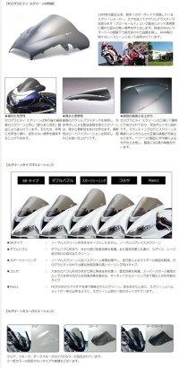 ZEROGRAVITYゼログラビティスクリーン【ダブルバブル】カラー:スモークCBR250RR(2017-)