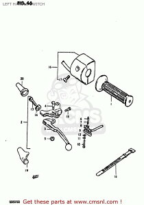CMS シーエムエス (37400-45373) SWITCH ASSEMBLY,HANDLE,LEFT