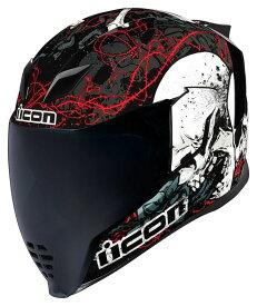 【在庫あり】ICON アイコン フルフェイスヘルメット AIRFLITE SKULL 18 HELMET[エアフライト スカル18 ヘルメット] サイズ:L(59-60cm)