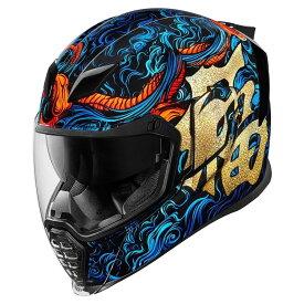 【在庫あり】ICON アイコン フルフェイスヘルメット AIRFLITE GOOD FORTUNE HELMET[エアフライト グッドフォーチューン ヘルメット] サイズ:M(57-58cm)