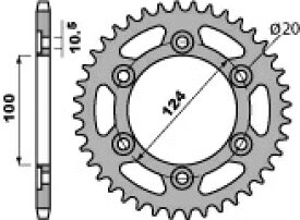 ピービーアール スプロケット ACB Steel crown PBR【ヨーロッパ直輸入品】 丁数:38