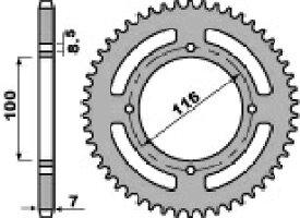 PBR ピービーアール スプロケット ACB steel crown【ヨーロッパ直輸入品】 丁数:51 KX100 (100) 87-13