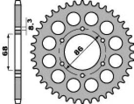 PBR ピービーアール スプロケット ACB steel crown chain【ヨーロッパ直輸入品】 BN125 A9F ELIMINATOR (125) 09 BN125 ELIMINATOR (125) 98-07