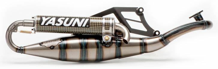 YASUNI ヤスニ フルエキゾーストマフラー R Stainless Exhaust System Carbon Kevlar Slip-On Suzuki AY50 Morini Engine 【ヨーロッパ直輸入品】