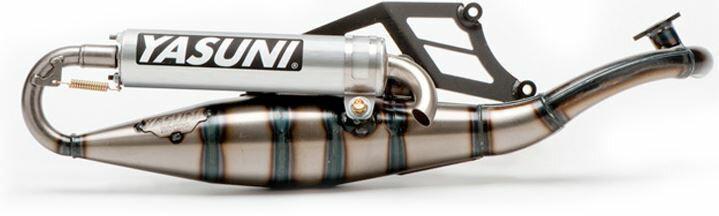 YASUNI ヤスニ フルエキゾーストマフラー R Stainless Exhaust System Aluminum Slip-On Suzuki AY50 Morini Engine 【ヨーロッパ直輸入品】