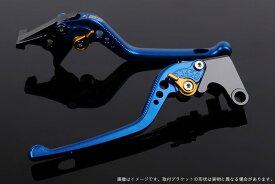 SSK:スピードラ エスエスケー:スピードラ アルミビレットアジャストレバーセット 3Dロング アジャスターカラー:ゴールド レバー本体カラー:ブルー NMAX
