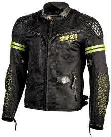 ポイント10倍! SIMPSON シンプソン メッシュジャケット NSM-1(typeA)メッシュ&レザージャケット サイズ:M