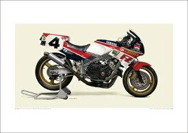 ヤマハ ワイズギア その他グッズ 1986 YAMAHA FZ750 Racer A2ポスター