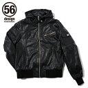 56design 56デザイン レザージャケット 56 S-Line Light Leather Parka [Sライン ライトレザーパーカー] サイズ:S