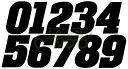 BONSAI MOTO ボンサイモト ステッカー・デカール ゼッケンステッカー 中サイズ カラー:ブラック 数字:1