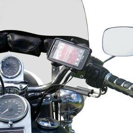 リーダーモーターサイクルアクセサリーズ 各種電子機器マウント・オプション 汎用ハンドルバーマウント eCADDYモデル TRIGRP HD クローム 【MOUNT ECDY TRIGRP HD CHR [0603-0504]】