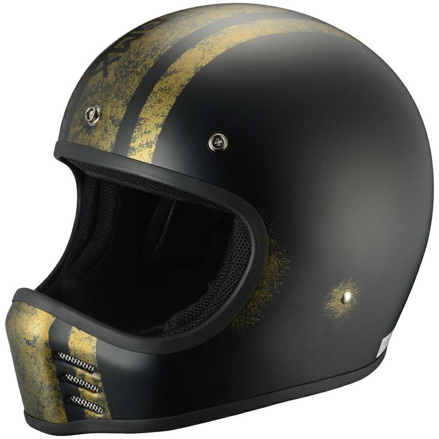 RIDEZ ライズ フルフェイスヘルメット TRESMIL(トレスミル)G-MX ヘルメット カラー:ブラック/ゴールド