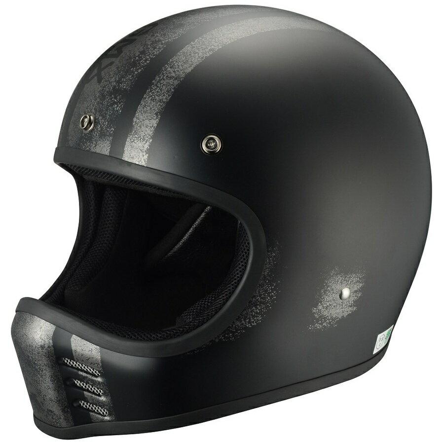 RIDEZ ライズ フルフェイスヘルメット TRESMIL(トレスミル)G-MX ヘルメット カラー:ブラック/シルバー
