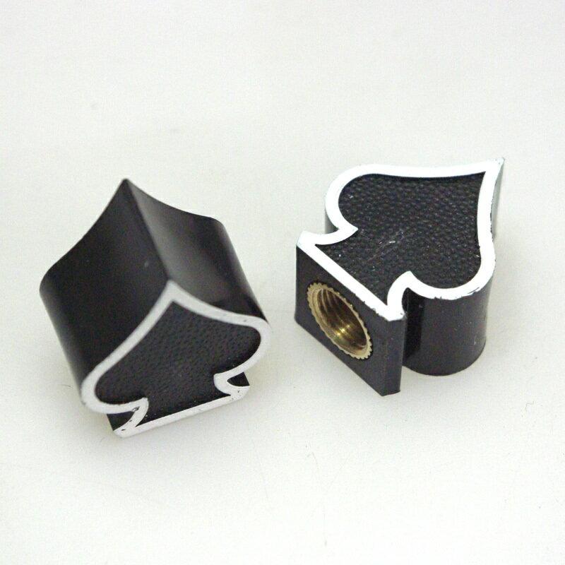 RIDEZ ライズ エアバルブ エアーバルブキャップ タイプ:Spade スペード (ブラック)