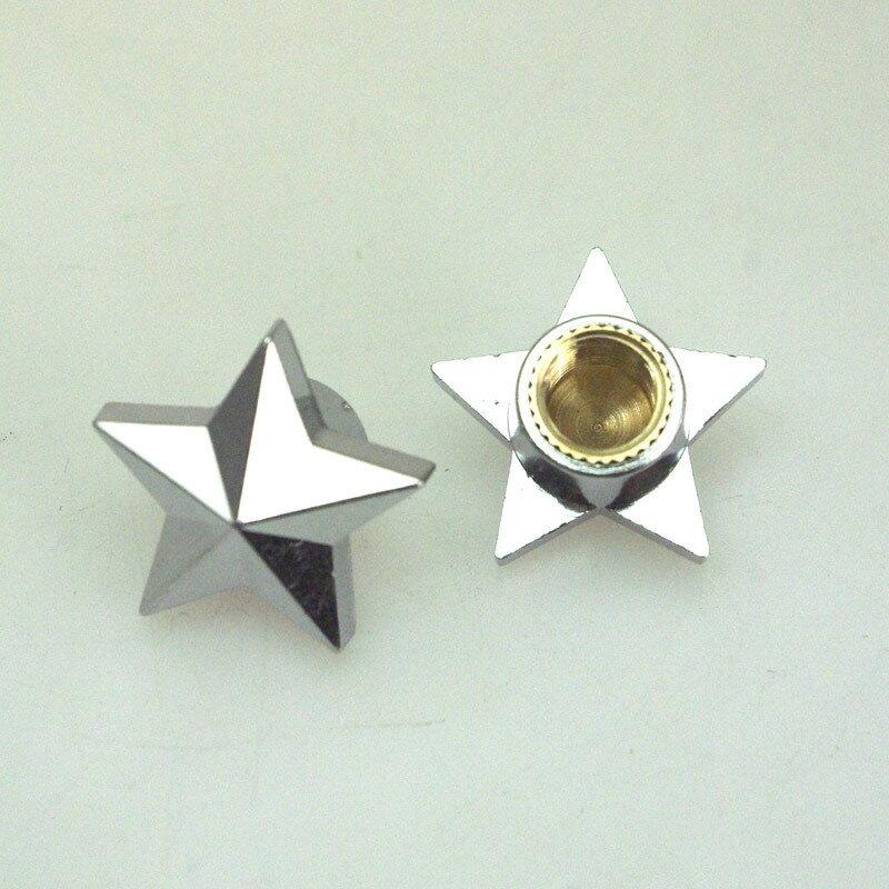 RIDEZ ライズ エアバルブ エアーバルブキャップ タイプ:Star スター (シルバー)