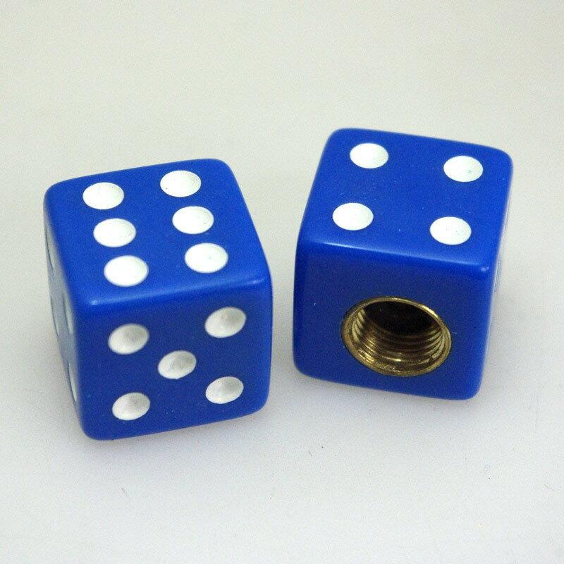 RIDEZ ライズ エアバルブ エアーバルブキャップ タイプ:Dice Blue ダイス(ブルー)