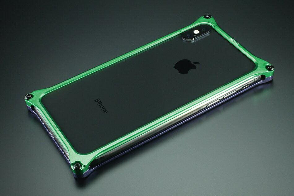 GILD design ギルドデザイン スマートフォンケース ソリッドバンパー for iPhoneX (EVANGELION Limited) カラー:パープル・グリーン(エヴァンゲリオン初号機) iPhoneX