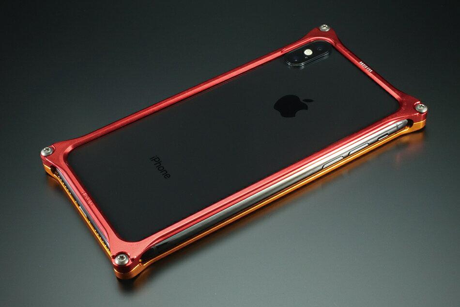 GILD design ギルドデザイン スマートフォンケース ソリッドバンパー for iPhoneX (EVANGELION Limited) カラー:ゴールド・レッド(エヴァンゲリオン2号機) iPhoneX