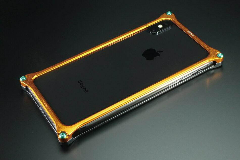 GILD design ギルドデザイン スマートフォンケース ソリッドバンパー for iPhoneX (EVANGELION Limited) カラー:ゴールド・グレー(EVANGELION PROTO TYPE-00 MODEL)